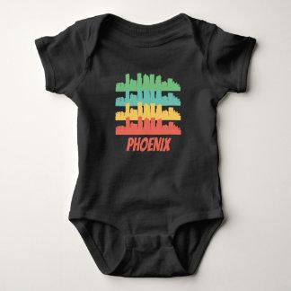 Body Para Bebê Pop art retro da skyline de Phoenix AZ