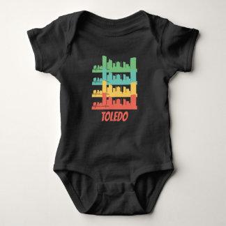 Body Para Bebê Pop art retro da skyline de Toledo OH