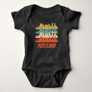 Body Para Bebê Pop art retro de Portland OU de skyline