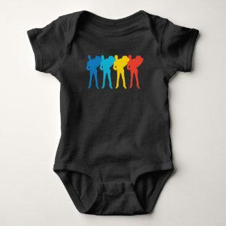 Body Para Bebê Pop art retro do acordeão
