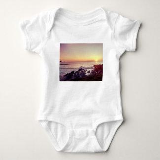 Body Para Bebê Por do sol da praia de Fistral
