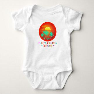 Body Para Bebê Por do sol da praia do círculo de Puerto Vallarta,