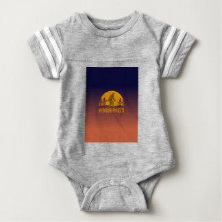 Body Para Bebê Por do sol do vintage de Woodbooger