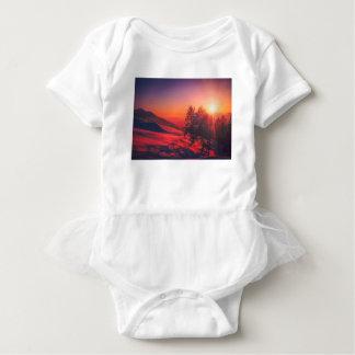 Body Para Bebê Por do sol nevado da noite