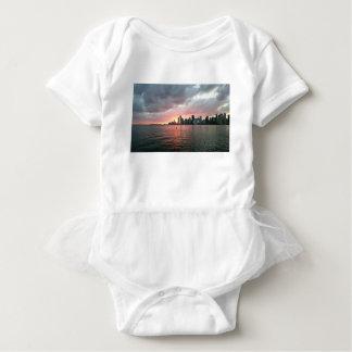 Body Para Bebê Por do sol sobre Miami