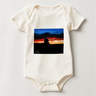 Body Para Bebê Por do sol, vale do monumento, UT