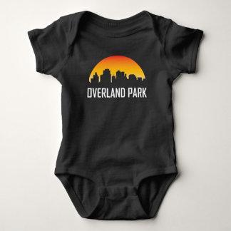 Body Para Bebê Por terra skyline do por do sol de Kansas do