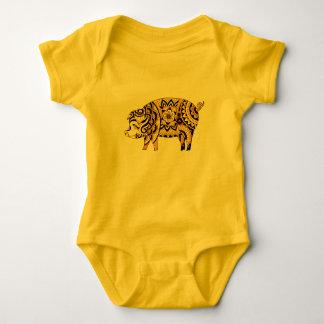 Body Para Bebê Porco