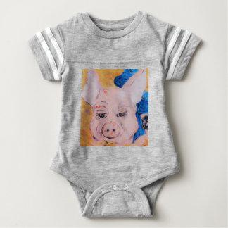 Body Para Bebê Porco da fita azul