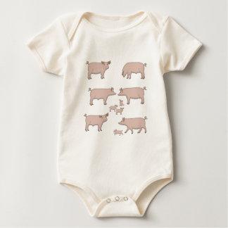 Body Para Bebê porcos