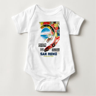 Body Para Bebê Poster 1947 grande da raça de San Remo Prix