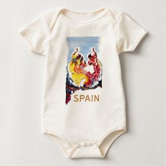 Body Para Bebê Poster de viagens dos dançarinos do Flamenco da