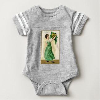 Body Para Bebê Poster original da senhora da bandeira do Dia de