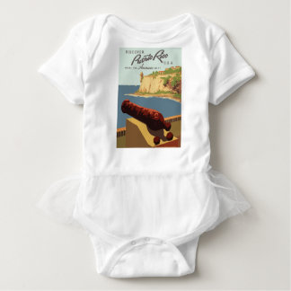 Body Para Bebê Poster Puerto Rico das viagens vintage