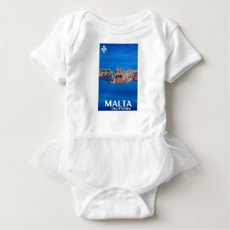 Body Para Bebê Poster retro Malta valletta - cidade dos