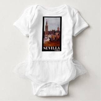 Body Para Bebê Poster retro Sevilha Giralda Andalucia