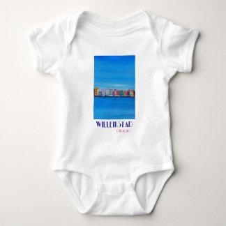 Body Para Bebê Poster retro Willemstad Curaçau