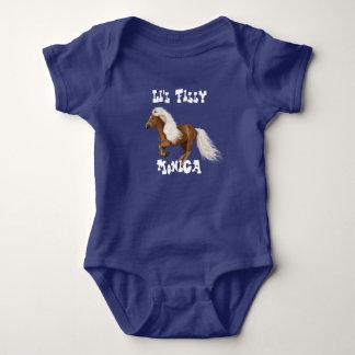 """Body Para Bebê """"Potro pequeno personalizado bonito """""""