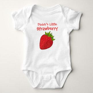 Body Para Bebê Pouca morango do pai