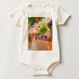 Body Para Bebê Pouca pintura japonesa da vila de Tokyo