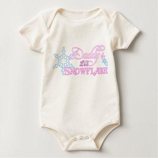 Body Para Bebê Pouco floco de neve do pai