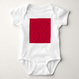 Body Para Bebê Povos azuis vermelhos dos elementos do design