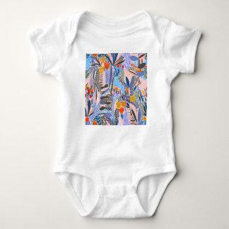 Body Para Bebê Povos do ethno das flores dos elementos do design