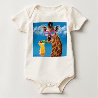 Body Para Bebê Praia do girafa - girafa engraçado