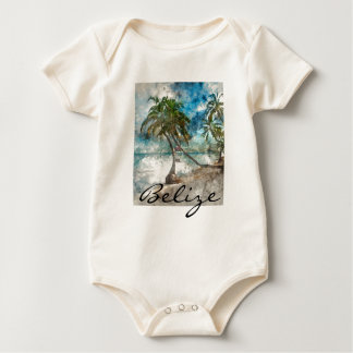 Body Para Bebê Praia no Ambergris Caye Belize