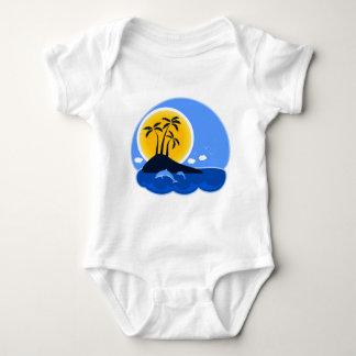 Body Para Bebê Praia tropical
