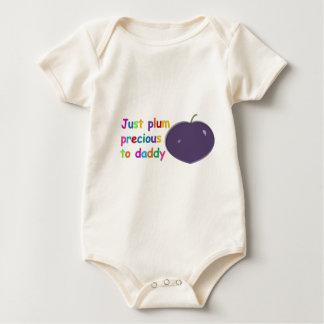 Body Para Bebê Precioso da ameixa ao pai