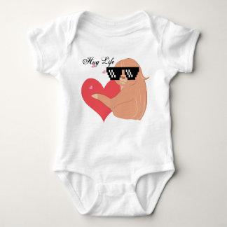 Body Para Bebê Preguiça adorável da vida do abraço