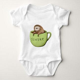 Body Para Bebê Preguiça do café de Sloffee