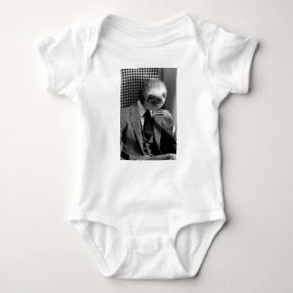 Body Para Bebê Preguiça do cavalheiro que senta-se na cadeira