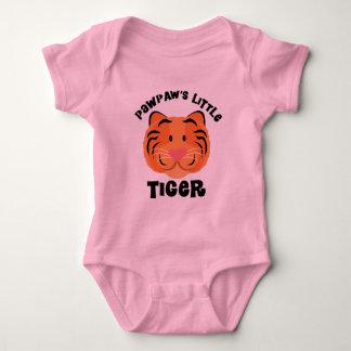Body Para Bebê Presente bonito do tigre pequeno dos Pawpaws