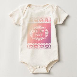 Body Para Bebê Presente Pastel do dia das mães do melhor rosa da