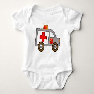 Body Para Bebê Presentes de aniversário de 3 anos da ambulância