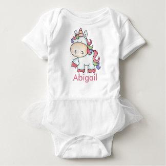 Body Para Bebê Presentes personalizados do unicórnio de Abigail