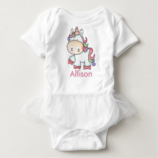 Body Para Bebê Presentes personalizados do unicórnio de Allison
