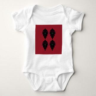 Body Para Bebê Preto vermelho dos ornamento luxuosos