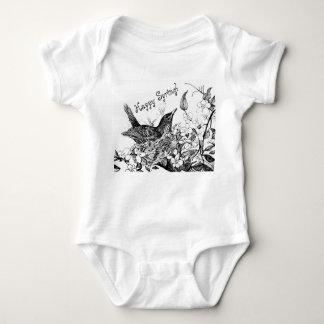Body Para Bebê Primavera feliz