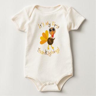 Body Para Bebê Primeira acção de graças Turquia