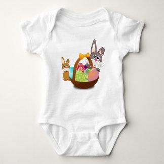 Body Para Bebê Primeira páscoa feliz