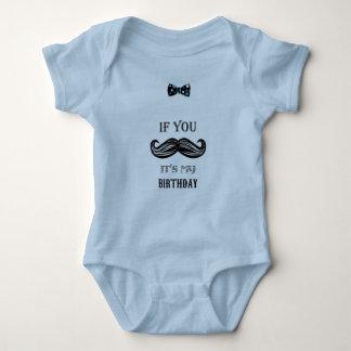 Body Para Bebê Primeiro aniversario - bigode - homem pequeno -