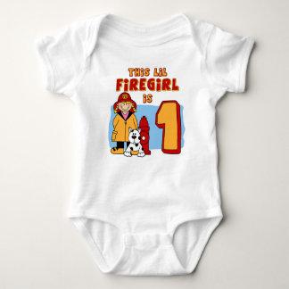 Body Para Bebê Primeiro aniversario de Lil Firegirl