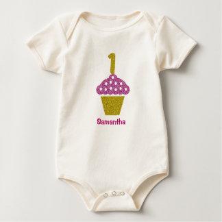 Body Para Bebê Primeiro aniversario do bebê com o Bodysuit do