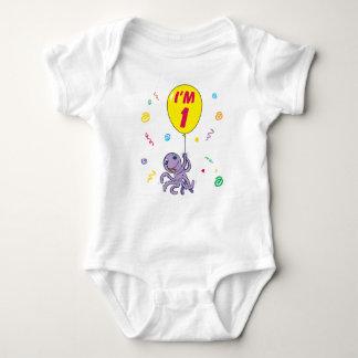 Body Para Bebê Primeiro aniversario do polvo