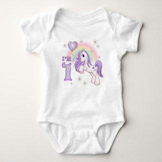 Body Para Bebê Primeiro aniversário do pônei bonito