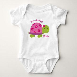 Body Para Bebê Primeiro aniversario personalizado tartaruga do