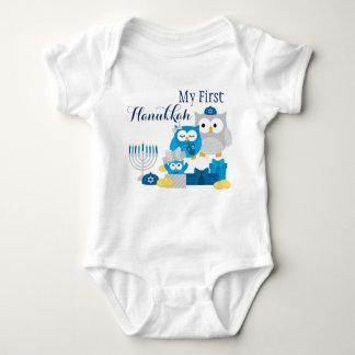 Body Para Bebê Primeiro Bodysuit de Hanukkah